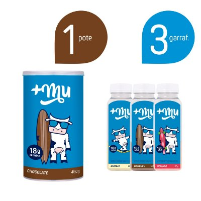 Combo Pote Chocolate + 3 Garrafinhas Mistas