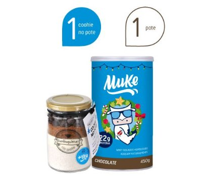 Combo de Natal Pote Chocolate Muke + Cookie No Pote