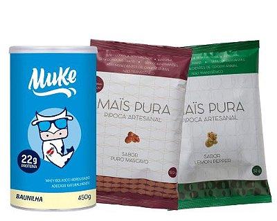 Pote Muke de Baunilha + 2 Pipocas Mistas