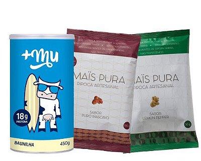 Pote Tradicional de Baunilha + 2 Pipocas Mistas