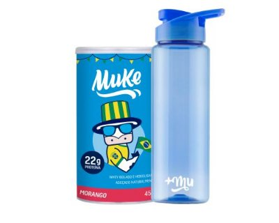 Compre 1 Pote Copa do Mundo Morango Muke - Ganhe 1 Coqueteleira
