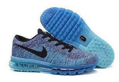 Tênis Nike Flyknit Air Max  - Masculino - Azul