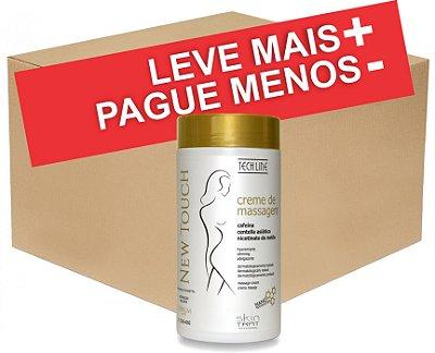 Box Creme de Massagem Skin Trat New Touch Cafeína com 12 unidades