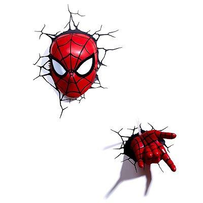 Conjunto Luminárias 3D Light FX Marvel Homem Aranha