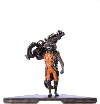 Estátua Rocket Raccoon 1/10 Guardiões da Galáxia Iron Studios