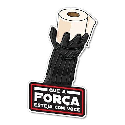 Placa Decorativa 24x16 - QUE A FORÇA ESTEJA COM VOCÊ (mão)