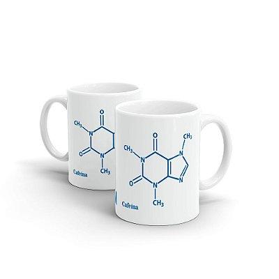 Caneca de Cerâmica MANUAL DO MUNDO - Molécula de Café (branca)