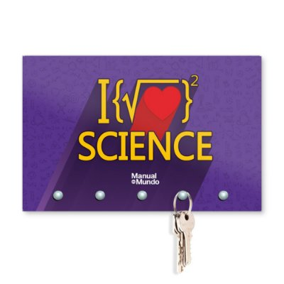 Porta Chaves 20x13cm MANUAL DO MUNDO - Raiz Science (roxo)