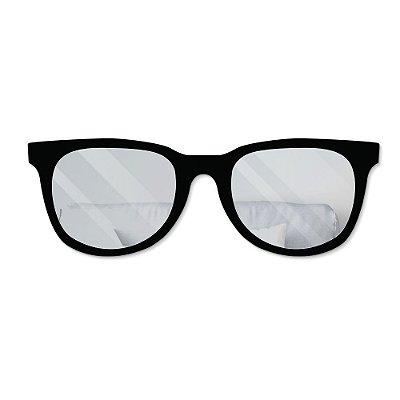 Espelho Decorativo feito em Acrílico Espelhado (85x30cm) - Óculos de Sol - PRATEADO