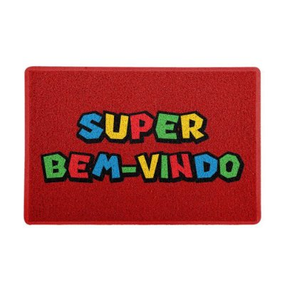 Capacho 60x40cm - SUPER BEM-VINDO (Vermelho)