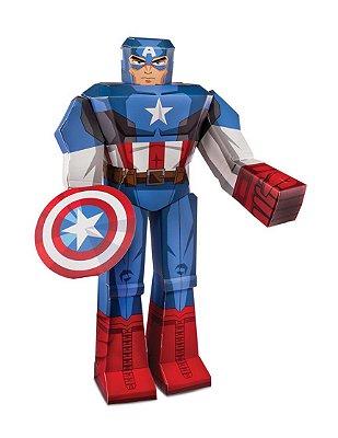 """Figura De Dobrar BluePrints Marvel Capitão América 12"""""""