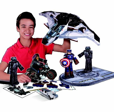 Figura De Dobrar BluePrints Marvel Quinjet Pack