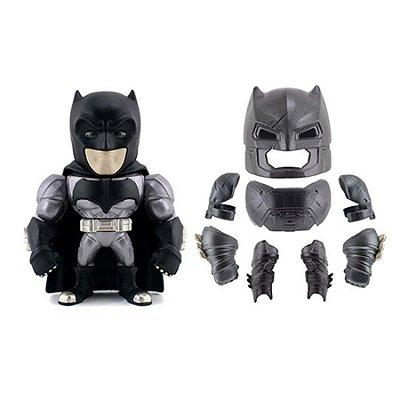 "Boneco Metal DIE CAST DC COMICS Batman Armadura BvS 6"""