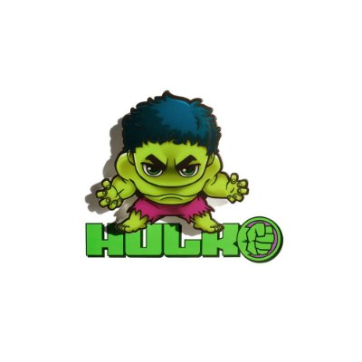 Mini Luminária 3D Light FX Vingadores Hulk