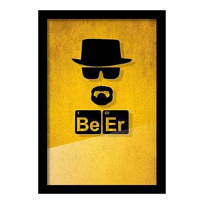 Quadro Porta Tampinha de Cerveja Be Er