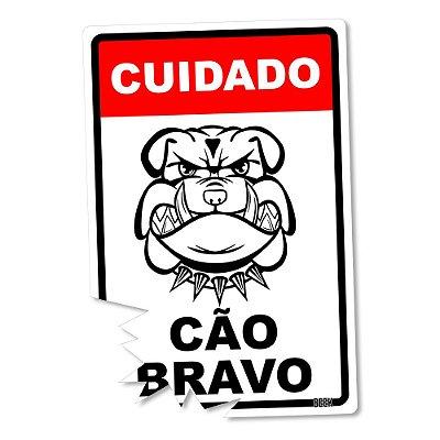Placa Decorativa 24x16 Cão Bravo - Beek