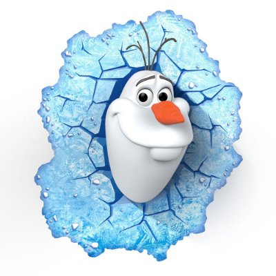 Luminária 3D Light FX Olaf Frozen