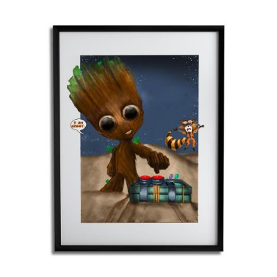Quadro Decorativo Groot By Júlio Magah - Beek