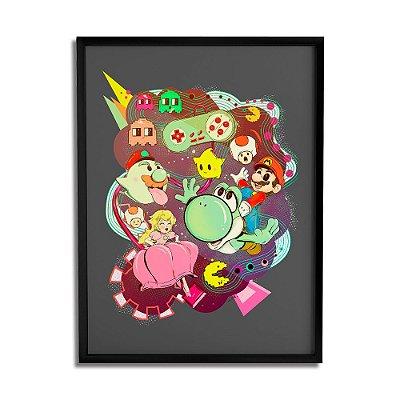 Quadro Decorativo Mario Vs Pacman By Lua Lins - Beek