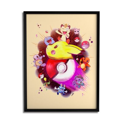 Quadro Decorativo Pokemon By Lua Lins - Beek