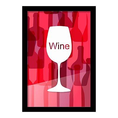 Quadro Porta Rolhas de Vinho WINE