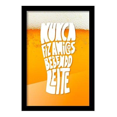 Quadro Porta Tampinha de Cerveja NUNCA