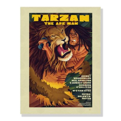 Quadro Decorativo Tarzan By Amaury Filho - Beek