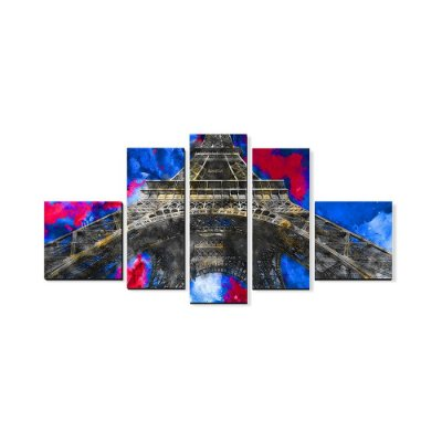 Quadro Decorativo Mosaico Torre Eiffel - Beek