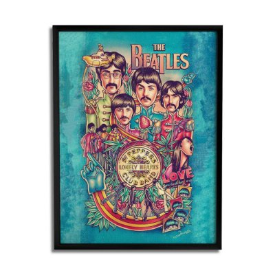 Quadro Decorativo The Beatles By Renato Cunha - Beek