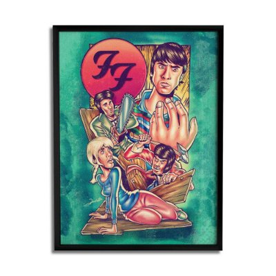 Quadro Decorativo Foo Fighters By Renato Cunha - Beek
