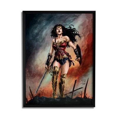 Quadro Decorativo Wonder Woman By Baal's - Beek