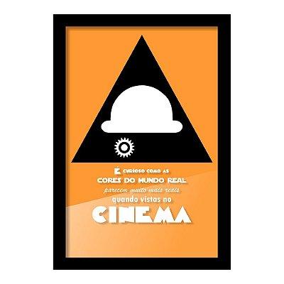 Quadro Porta Ingressos de Cinema LARANJA