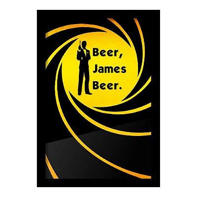 Quadro Porta Tampinha de Cerveja James Beer