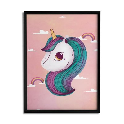 Quadro Decorativo Unicornio By Fe Sponchi - Beek