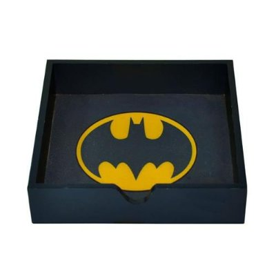 Porta-Guardanapos de Madeira Batman Logo - Dc Comics