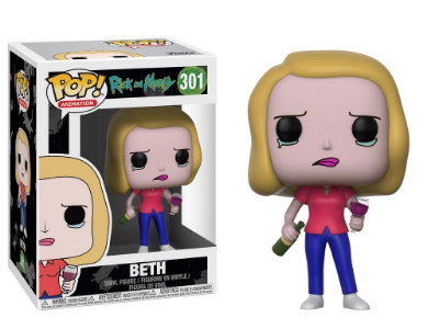 Estatueta Funko Pop! Animation Rick & Morty S3 - Beth W/ Wine Glass