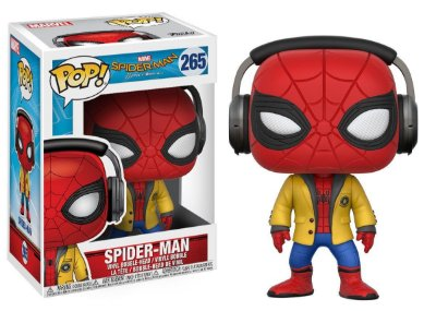 Estatueta Funko Pop! Movies Spiderman Homecoming - Spiderman W/ Headphones