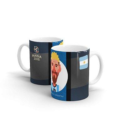 Caneca Personalizada COPA RUSSIA 2018 Messi - Beek