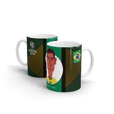Caneca Personalizada COPA RUSSIA 2018 Neymar - Beek