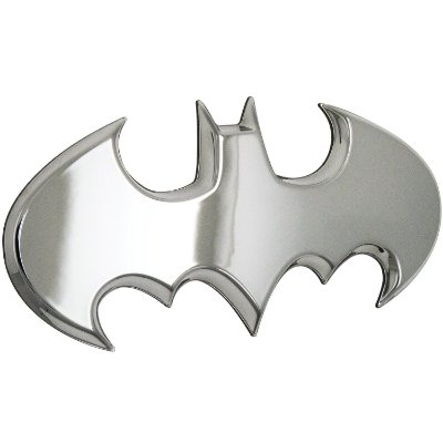 Emblema 3D Automotivo BATWING Prata DC Comics - Fan Emblems