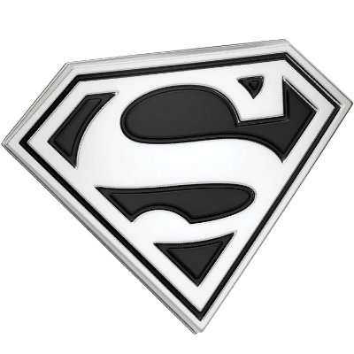 Emblema 3D Automotivo LOGO SUPERMAN Preto DC Comics - Fan Emblems