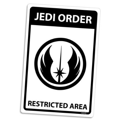 Placa Decorativa 24x16 Area Restrita Jedi - Beek