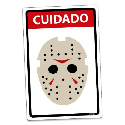 Placa Decorativa 24x16 HALLOWEEN Cuidado Assassino - Beek
