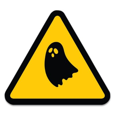 Placa Decorativa 30x30 HALLOWEEN Alerta Fantasmas - Beek