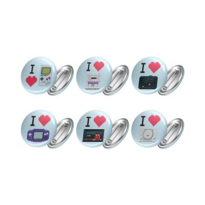 Kit de 06 Bottons LOVE GAMES