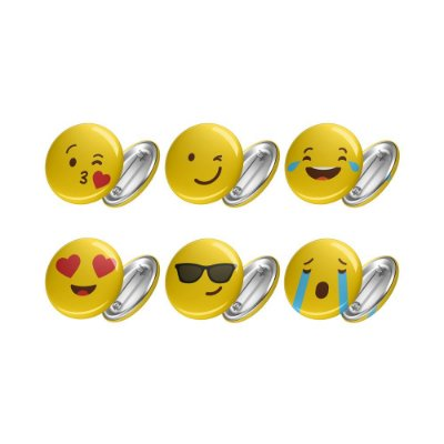 Kit de 06 Bottons EMOJIS
