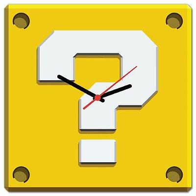 Relógio de Parede Beek INTERROGAÇÃO