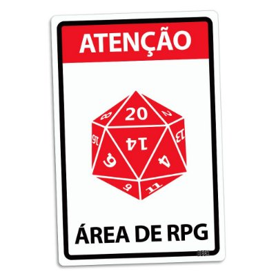 Placa Decorativa 24x16 Área de RPG - Beek