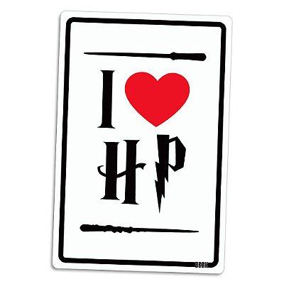 Placa Decorativa 24x16 I LOVE HP - Beek