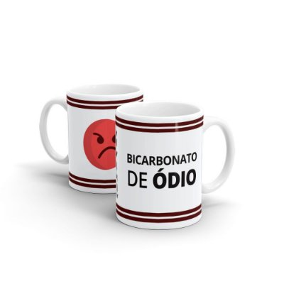 Caneca Personalizada Cerâmica Bicabornato de Ódio - Beek